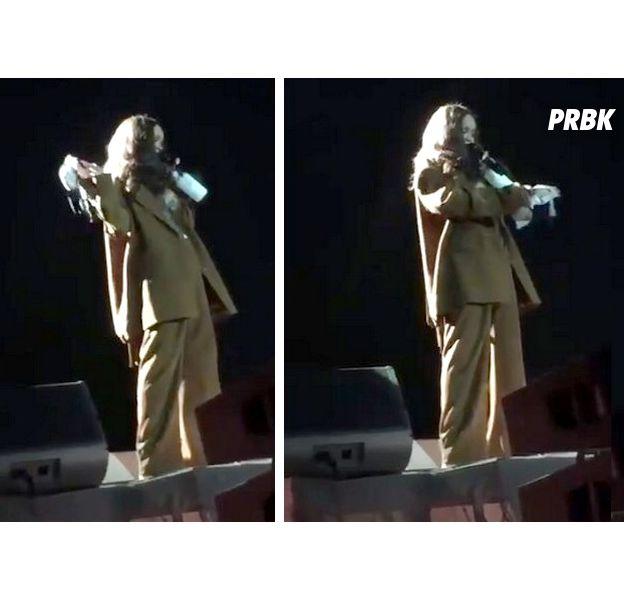 Rihanna reçoit un soutien-gorge sur scène, sa réaction est culte