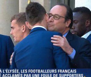 François Hollande reçoit les Bleus à l'Elysée le 11 juillet 2016
