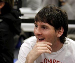 Lionel Messi en 2010, avec sa coupe mulet