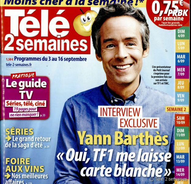 Yann Barthès en interview dans Télé 2 semaines pour évoquer Quotidien, sa nouvelle émission sur TMC et TF1