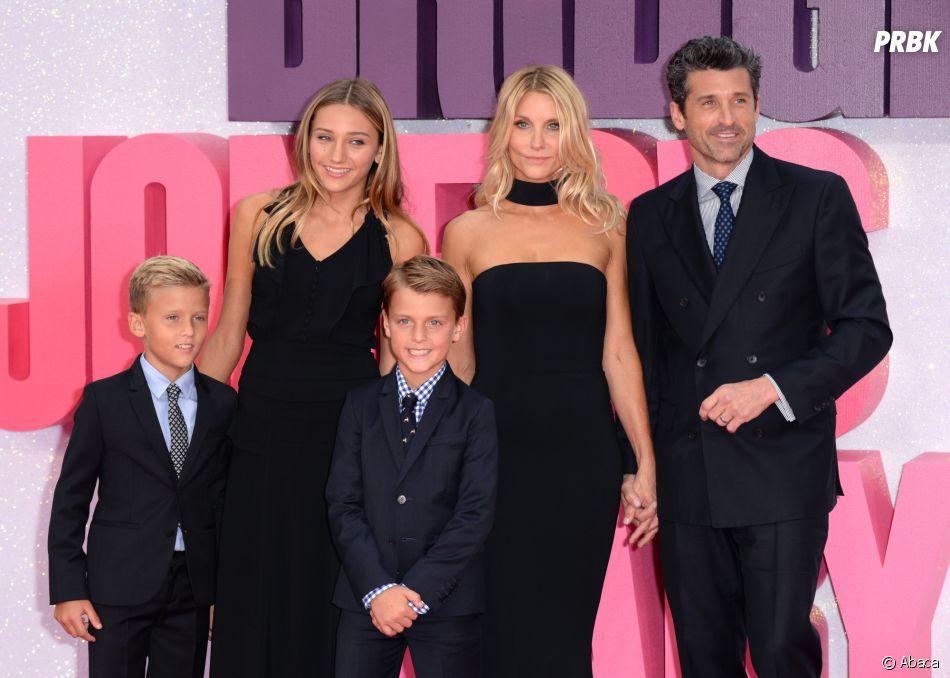 Patrick Dempsey avec sa femme Jillian et ses enfants, Tallulah, Sullivan et Darby à l'avant-première de Bridget Jones Baby le 5 septembre 2016 à Londres