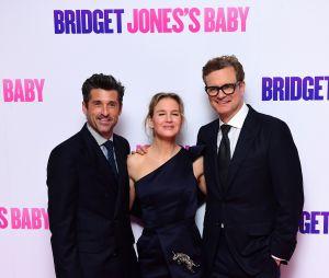 Patrick Dempsey, Renée Zellweger et Colin Firth à l'avant-première de Bridget Jones Baby le 5 septembre 2016 à Londres