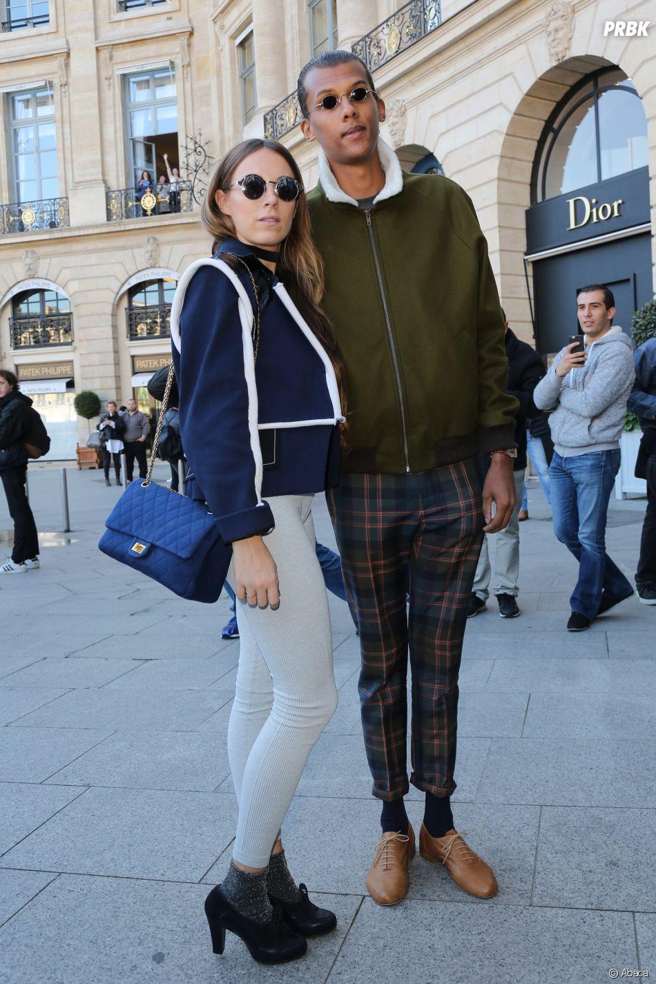 Stromae et sa femme Coralie ont assorti leurs looks pour la PFW.