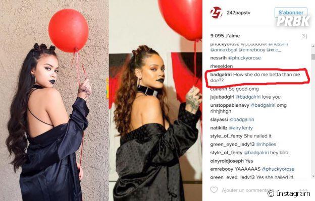 Rihanna a réagi à la photo de son sosie sur Instagram !