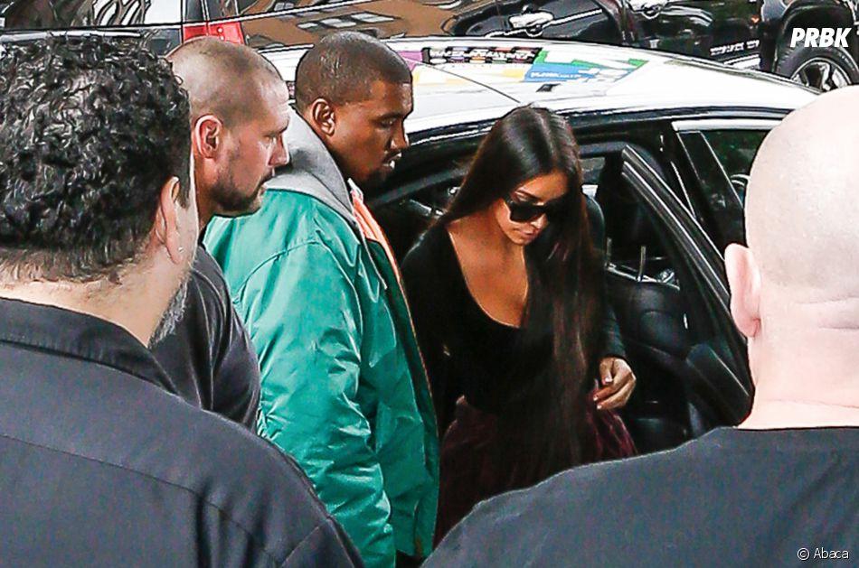Kim Kardashian et Kanye West de retour à New York après l'agression.