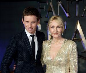 Eddie Redmayne et J.K. Rowling à l'avant-première du film Les Animaux Fantastiques le 15 novembre 2016 à Londres