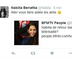 Nabilla Benattia a réagi aux rumeurs d'une nouvelle télé-réalité, avant de supprimer son tweet.