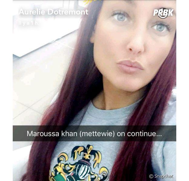 Aurélie Dotremont dévoile ses cheveux violets sur Snapchat