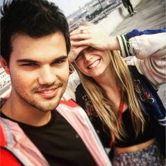 Taylor Lautner de tout coeur avec sa petite-amie Billie Lourd, la fille de Carrie Fisher ❤
