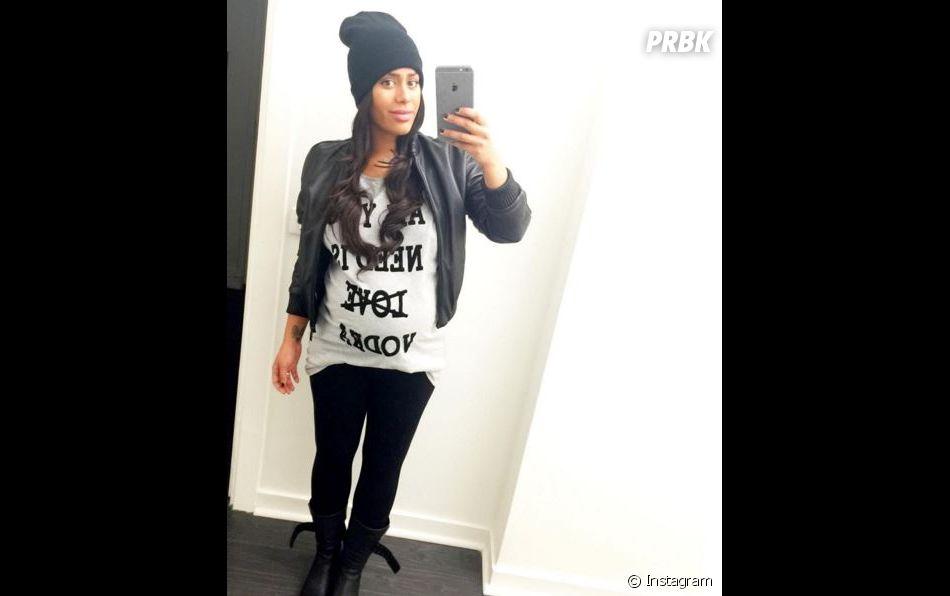 Amel Bent enceinte sur Instagram, le 31 janvier 2016