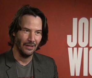 Keanu Reeves en interview pour John Wick 2.