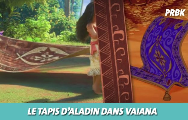Disney : le tapis d'Aladin dans Vaiana
