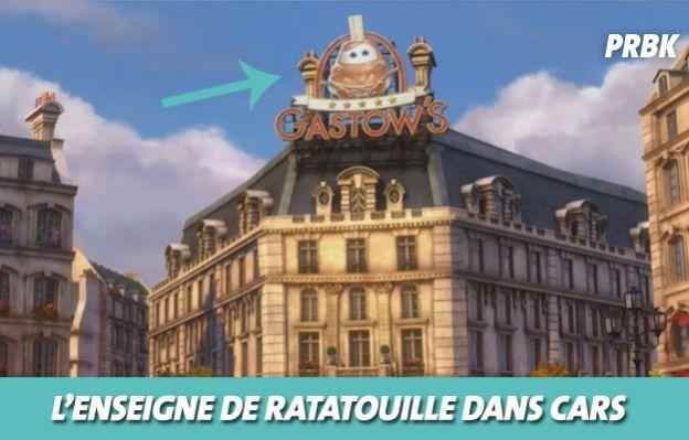 Disney : l'enseigne de Ratatouille dans Cars