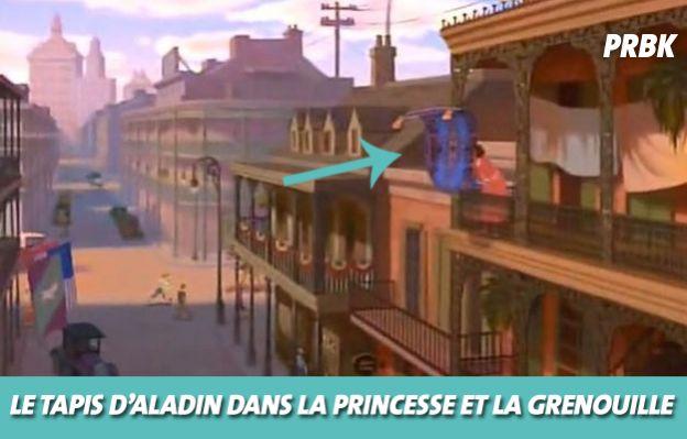 Disney : le tapis d'Aladin dans La princesse et la grenouille