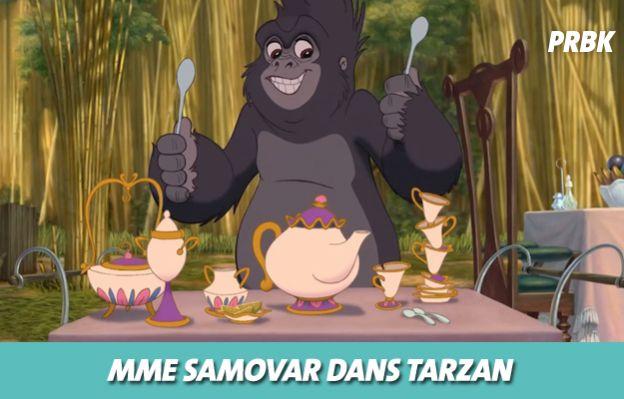Disney : Mme Samovar dans Tarzan