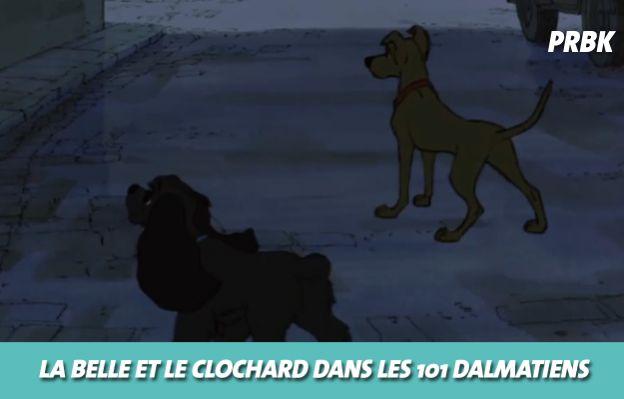 Disney : La belle et le clochard dans Les 101 dalmatiens