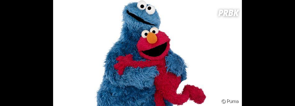 Elmo et Cookie Monster de Sesame Street s'invitent sur une