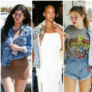 Kylie Jenner, Rihanna, Bella Thorne... Les stars adoptent toutes la veste en jean