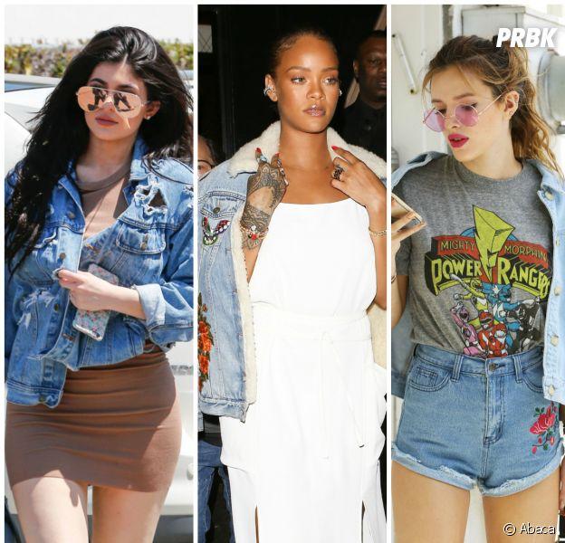 Kylie Jenner, Rihanna, Bella Thorne... Elles sont toutes fans de la veste en jean !
