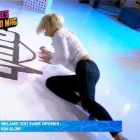 Mélanie (Les Anges 9) fait une énorme chute en direct dans Le Mad Mag