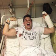 Tibo Inshape à l'hôpital après un accident en plein tournage