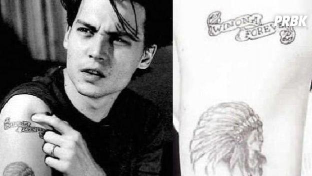 Johnny Depp a modifié son tatouage dédié à Winona Ryder