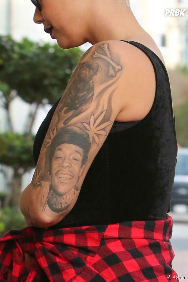 Amber Rose : son tatouage est le visage de son ex, Wiz Khalifa