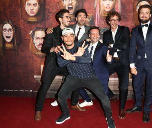 les garçons à l'avant-première du film Le Manoir le 9 juin 2017 au Grand Rex à Paris