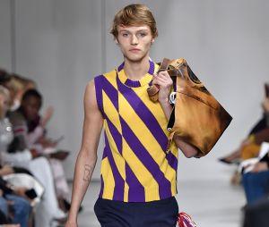 Norman Reedus (The Walking Dead) : son fils Mingus défile pour Calvin Klein le 8 septembre 2017 lors de la Fashion Week de New York