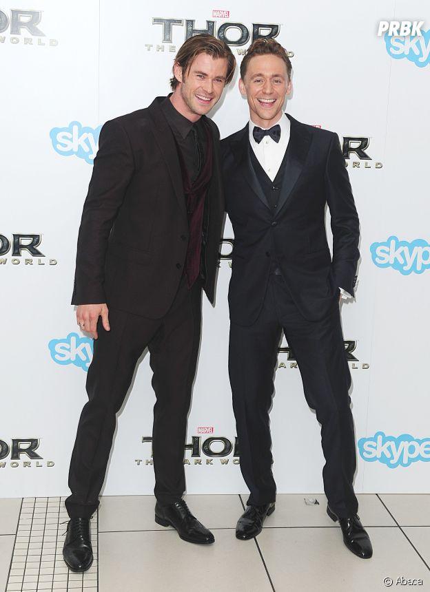 Chris Hemsworth et Tom Hiddleston amis dans la vie