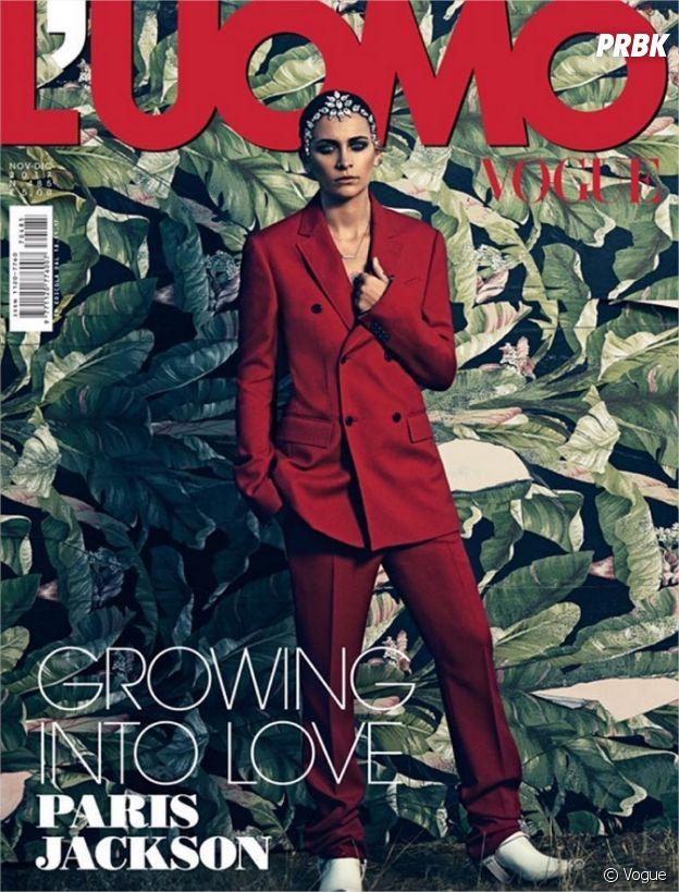 Paris Jackson méconnaissable en Une de L'Uomo Vogue