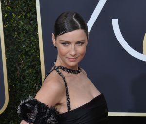 Caitriona Balfe (Outlander) sur le tapis rouge des Golden Globes 2018 le 7 janvier à Los Angeles