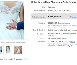 Charlène (Mariés au premier regard) : sa robe de mariée vendue à un prix incroyable