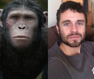 La Planète des singes l'affrontement : Nick Thurston joue Yeux Bleus