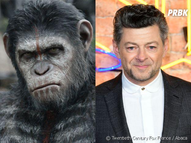 La Planète des singes l'affrontement : Andy Serkis joue César