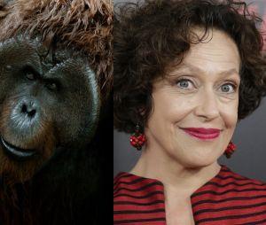 La Planète des singes l'affrontement : Karin Konoval joue Maurice