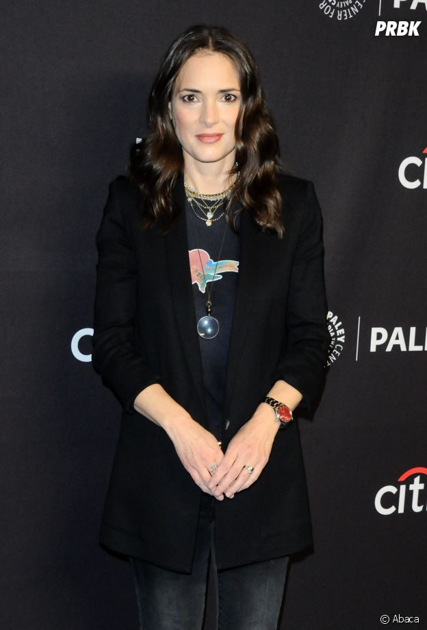 Winona Ryder au panel de Stranger Things au PaleyFest le 24 mars 2018 à Los Angeles