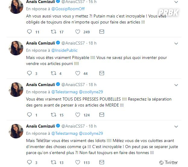 Anaïs Camizuli pousse un coup de gueule après les rumeurs sur les raisons de sa séparation avec Sultan