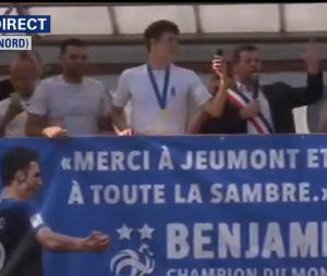 Benjamin Pavard de retour à Jeumont après la victoire des Bleus