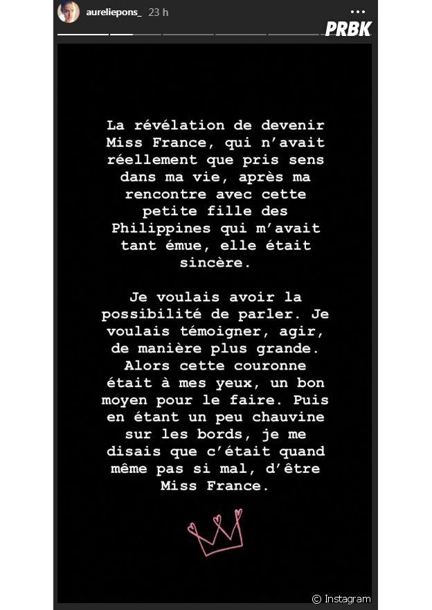 Aurélie Pons (Miss Provence 2018) explique pourquoi elle abandonne le concours de Miss France 2019
