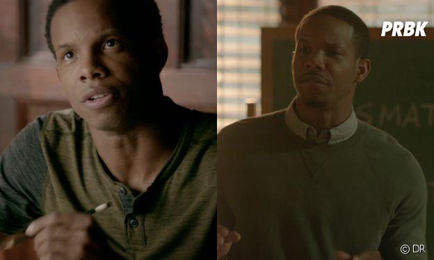 Dorian dans The Vampire Diaries (à gauche) et dans Legacies (à droite)