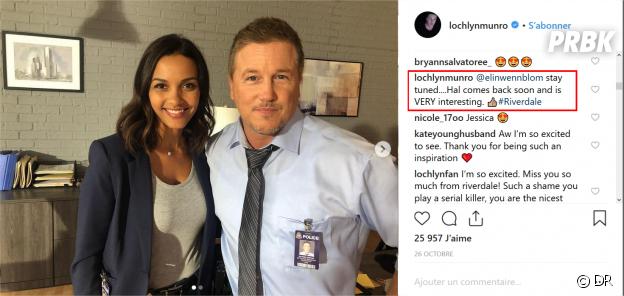 Riverdale saison 3 : Lochlyn Munro annonce son retour sur Instagram