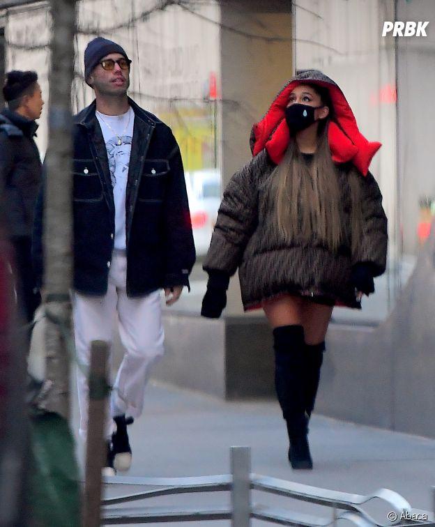 Ariana Grande en compagnie de Ricky Alvarez dans les rues de New York