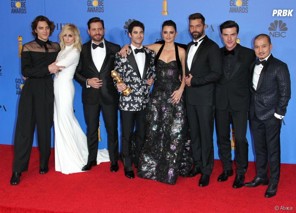 L'équipe de The Assassination of Gianni Versace aux Golden Globes le 6 janvier 2019