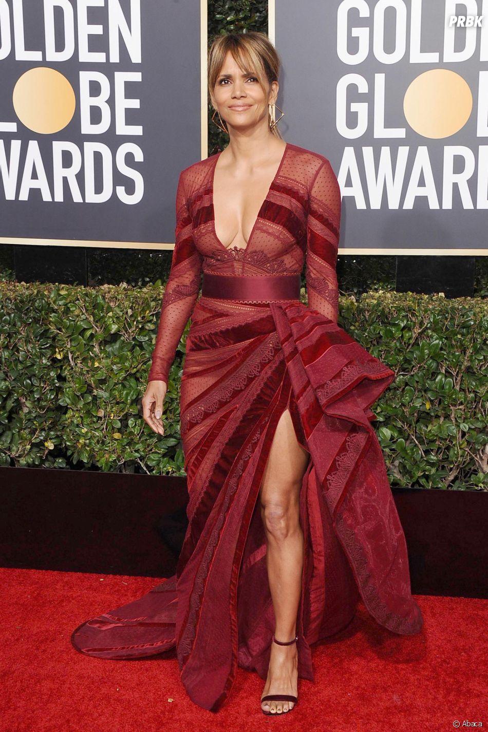 Halle Berry sur le tapis rouge des Golden Globes le 6 janvier 2019