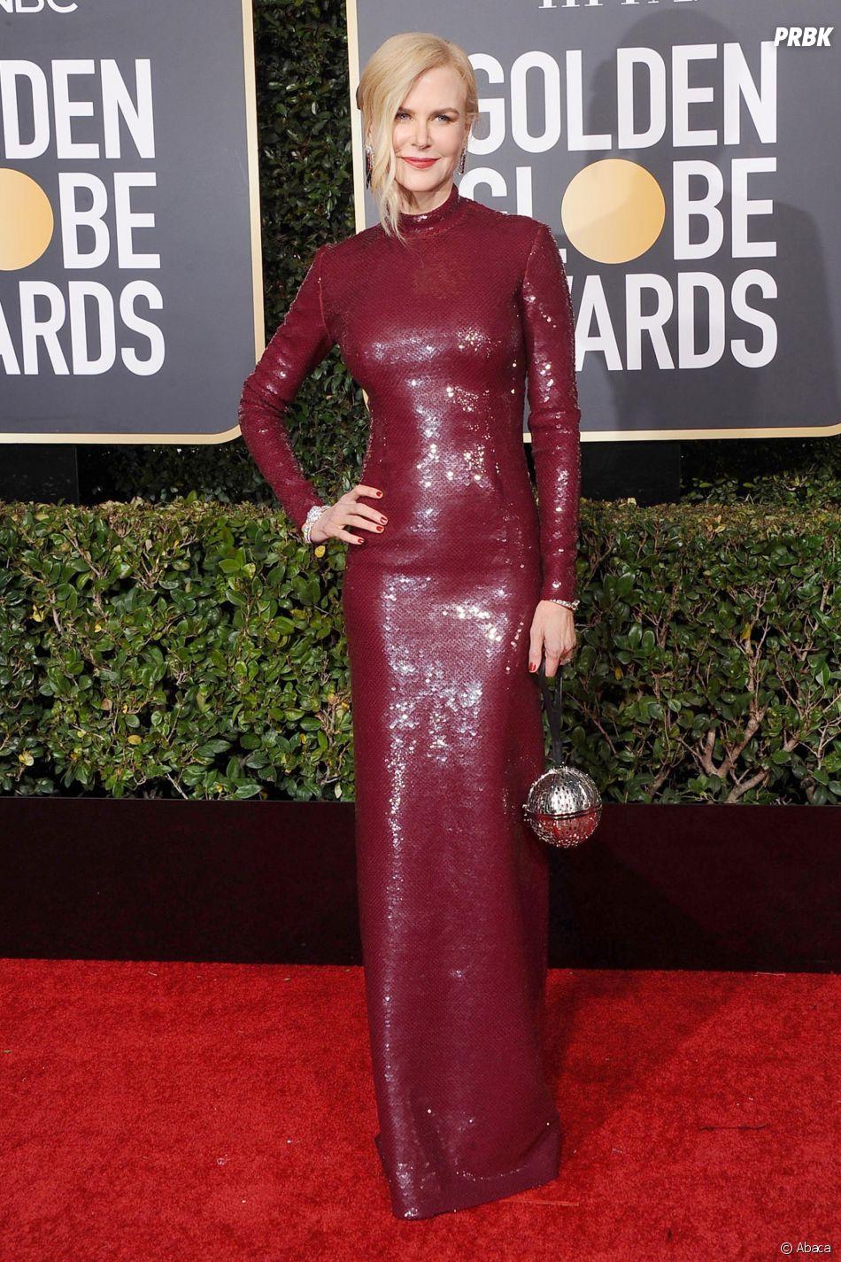 Nicole Kidman sur le tapis rouge des Golden Globes le 6 janvier 2019