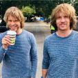 NCIS Los Angeles : Eric Christian Olsen pose avec son frère David