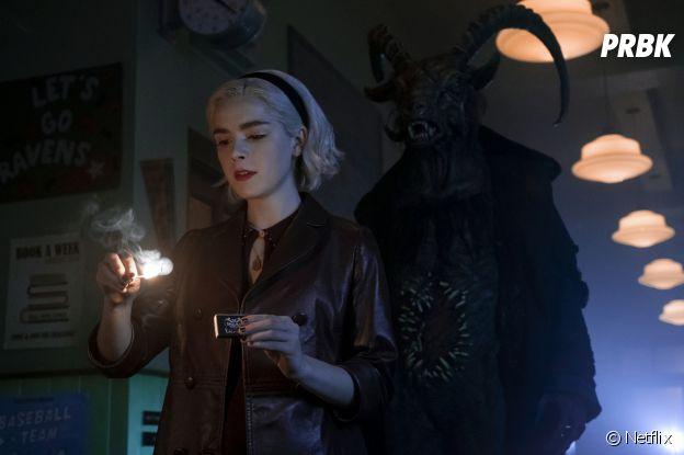 Les Nouvelles aventures de Sabrina saison 2 : Sabrina (Kiernan Shipka) sur une phot