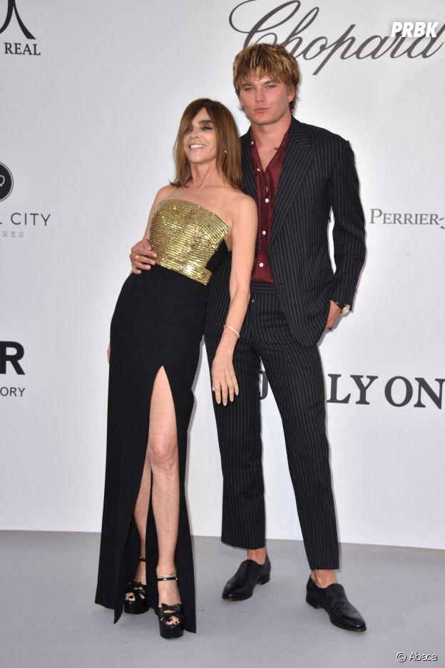 Festival de Cannes 2019 : Carine Roitfeld et Jordan Barrett au gala de l'amfAR