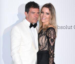 Festival de Cannes 2019 : Antonio Banderas et sa compagne Nicole Kimpel au gala de l'amfAR